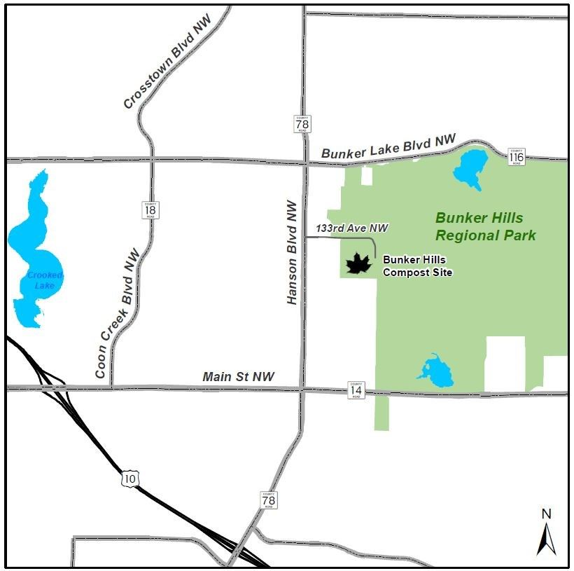Bunker Hills compost site map