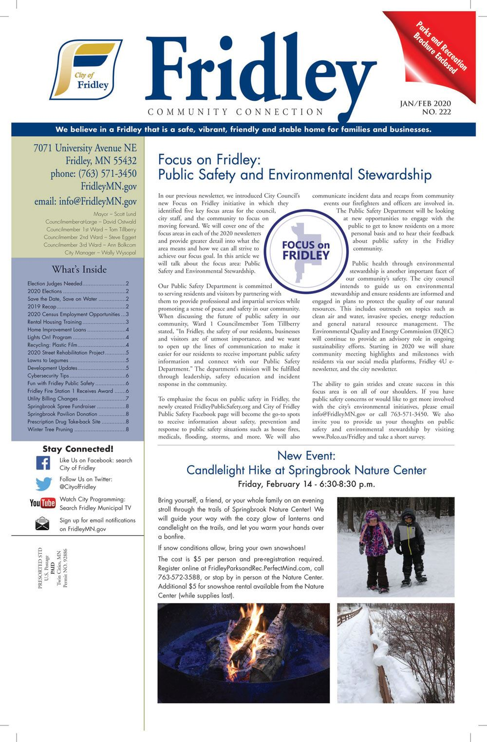 Front Cover - January February 2020 newsletter