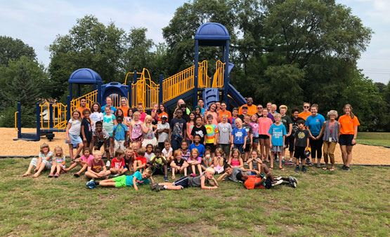 ROCKS kids summer group photo