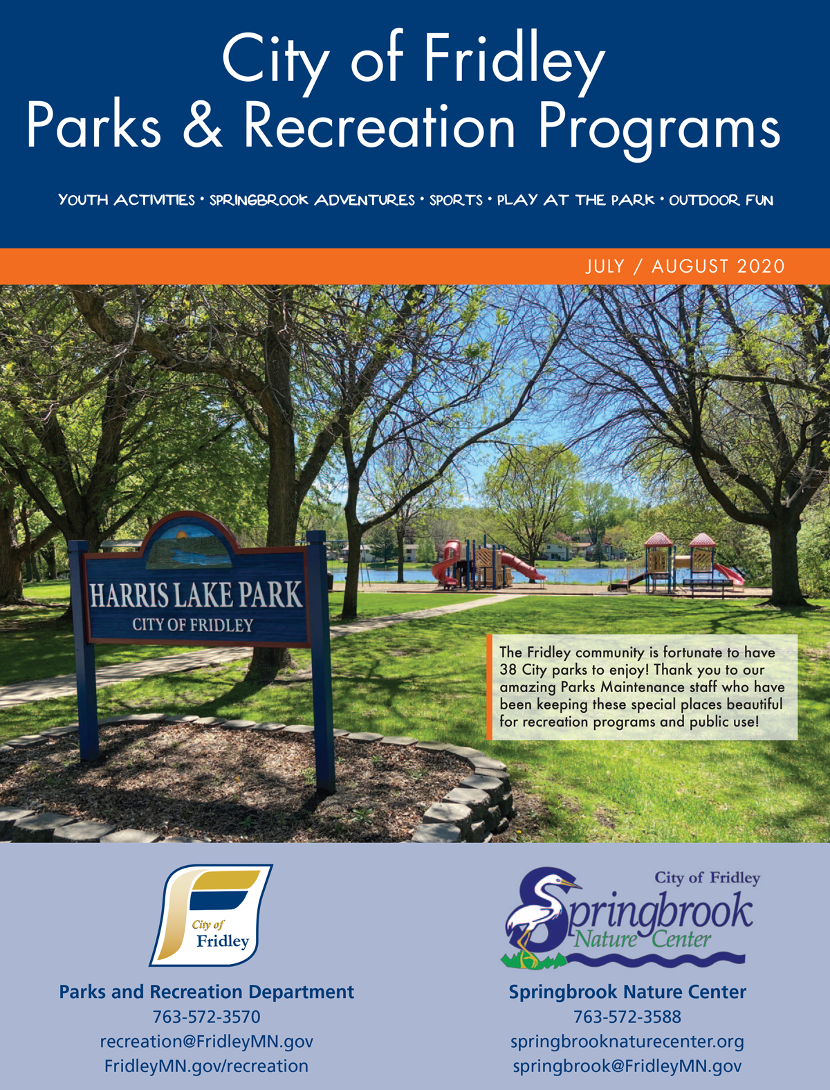 Recreation Brochure - July front cover